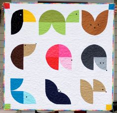 Animal Quilt, so cute. might need to sub out center block, repetition with center and middle right blocks is irksome