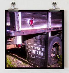 Big Sky Montana Photograph - Signed Fine Art Print -  Vintage Truck