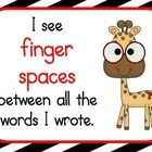 This is a set of 5 posters displaying writing rules for the beginner writer. It helps students remember to start sentences with capital letters, e...
