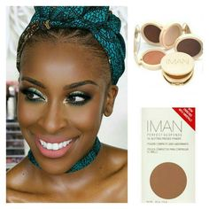 Yayyyyyyy...... my favourite beauty vlogger @jackieaina used the IMAN Oil Blotting powder in her B.O.M.B YouTube video for a flawless finish. Take on her challenge of using #IMANCosmetics  one of the only beauty lines who cater to women of color in your next tutorial. #teeka4
