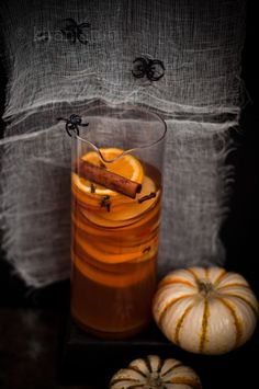 Apple Bourbon & Pumpkin Sangria... we might've found the perfect #Halloween punch!