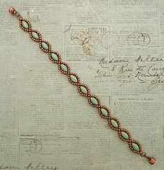 Linda's Crafty Inspirations: Bracelet of the Day: Simple IrisDuo Chain - Green & Copper