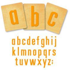 Ellison SureCut Die Set - Tall 'N Thin Alphabet, Lowercase Letters - 4 Inch
