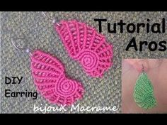 "bijouX Macrame - Tutorial n#3 Aros ""concha""/ DIY ""shell"" earring - YouTube"