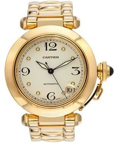 Cartier LUIB Pasha de Cartier 18K Yellow Gold Watch