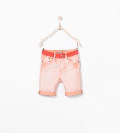 Contrast bermuda shorts