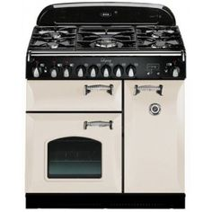 AGA Legacy Series 36 Inch Freestanding Pro-Style Dual Fuel Range with 5 Sealed Burners, cu. Multifunction Oven, and Cathedral Doors in Ivory Aga Oven, 36 Range, Vintage Tub, Victorian Kitchen, Thing 1, Gas And Electric, Small Kitchen Appliances, Cathedral, Miniatures