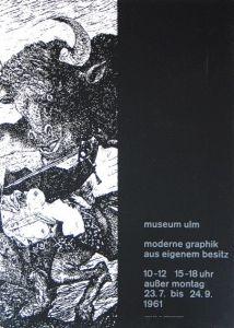 Plakat: Mavignier, Almir - 1961 - (Moderne Grafik / Picasso-Motiv) Ulm