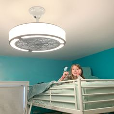 """See our web site for even more relevant information on """"modern bunk beds children"""". It is an exceptional spot to learn more. Ceiling Fan Girls Room, Kids Ceiling Fans, Low Ceiling Bedroom, Low Ceiling Basement, Ceiling Fan With Remote, Home Ceiling, Bunk Beds With Stairs, Kids Bunk Beds, Modern"""