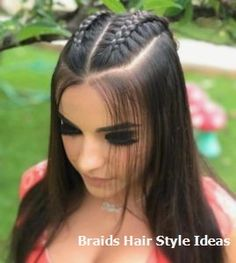 Stunning Prom Hairstyles Half Up Half Down Looking for Hair Prom Inspo? Get prepared for prom season by checking out some of our favorite half up half down prom hairstyles for all hair lengths & textures Long Thin Hair, Braids For Long Hair, Baddie Hairstyles, Cool Hairstyles, Half Braided Hairstyles, Concert Hairstyles, Hairstyle Ideas, Medium Hair Styles, Curly Hair Styles