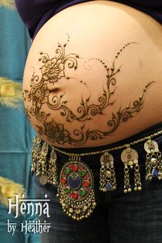 Lots of Baby Belly Henna at Nixi Expo, Boston » Henna By Heather ...