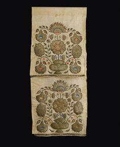 [Ottoman Empire] Silver and Silk Thread Embroidered Fabric (Osmanlı Gümüş ve İpek İplik İşleme, 18.Yüzyıl)