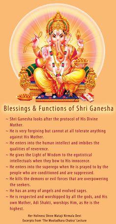Blessings of Shri Ganesha after self realization Shri Mataji, Shri Ganesh, Lord Ganesha, Lord Krishna, Hindu Rituals, Hindu Mantras, Sahaja Yoga Meditation, Chakra Meditation, Chakras