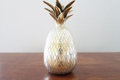 Vintage Brass Pineapple with Lid by SimplyOtraVez on Etsy, Sold