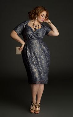 Plus Size Designer Igigi Spring Awakening Collection. Rare andrefreshing to see a plus size dress that looks intentional Curvy Girl Fashion, Look Fashion, Plus Size Fashion, Womens Fashion, Dress Fashion, Fashion Beauty, Fashion Tips, Look Plus Size, Curvy Plus Size