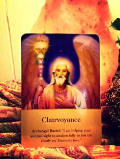 Today's Angel Card Message is Clairvoyance! The Amazing Archangel Raziel  tells us that he is helping our spiritual sight to awaken fully so that we can see Heavenly Love. ~ My Darling Brothers & Sisters, we all have the gift for being clairvoyant. It is the ability to see what our eyes do not see and this gift comes from God. You see only what is Loving, anything negative is pure ego. When ever you are in a situation tap into this gift and surrender your ego. Namaste,  cindyshealing.com xox