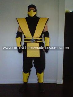 scorpion mortal kombat costume diy google search - Mortal Kombat Smoke Halloween Costume