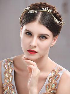 Handcess strass fascia Vine capelli sposa gioielli capelli per sposa e  damigelle d  onore (oro)  Amazon.it  Bellezza 17131df775f0