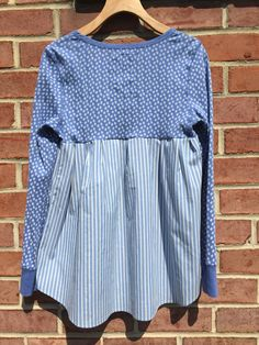 SALE Tunic upcycled clothing shabby chic blue by MoesClothesCo