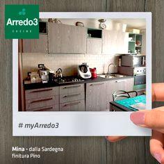 In Sardegna, la nostra amica Mina ha organizzato al meglio gli spazi della sua cucina #Arredo3  #design #myArredo3  http://www.arredo3.it/cucine-moderne/