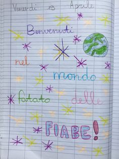 Quaderno di italiano classe 2^ La fiaba Dots, Bullet Journal, Education, Blog, 3, Homeschooling, Album, Alphabet, Stitches