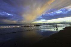 夕方の茅ヶ崎ビーチ、自然の怖さ、美しさを感じた日。