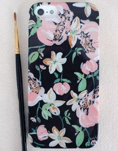 love love love momental designs... hello Christmas list...  Image of Midnight Peach Peony iPhone 4/4s, 5/5s and 5c Case