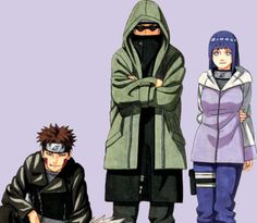 Inuzuka Kiba, Aburame Shino and Hyūga Hinata.