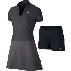 Dark Grey/Black Nike Ladies Ace Golf Dress at Lori's Golf Shoppe