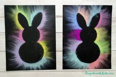 This bunny art project is adorable and so fun for kids to make! Kids will love using this easy chalk pastel technique to create this brightly colored Easter craft. Art Brightly Colored Bunny Art Project with Chalk Pastels Chalk Pastel Art, Chalk Pastels, Chalk Art, Spring Crafts For Kids, Art For Kids, Summer Crafts, Kids Fun, Lapin Art, Bunny Templates