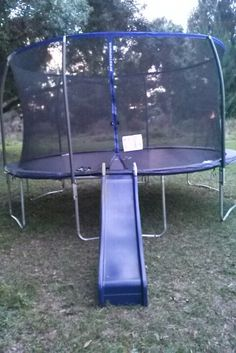 Easy and fun for kids to get up the trampoline and slide to get down...