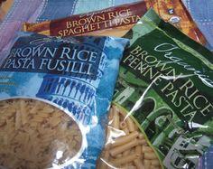 Trader Joe's Brown Rice Pastas are our favorite gluten free pasta alternative.