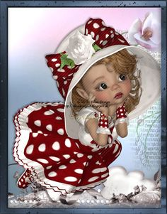 Holly Hobbie, Cute Little Girls, Cute Kids, Fairy Pictures, Illustration Mode, Baby Fairy, Vintage Valentine Cards, Doll Painting, Little Designs