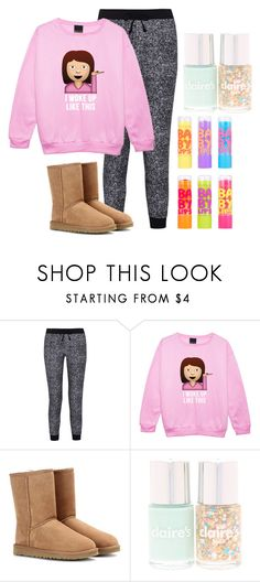 """Common White Girl"" by whitneypearl ❤ liked on Polyvore featuring Splendid, UGG Australia and Maybelline"