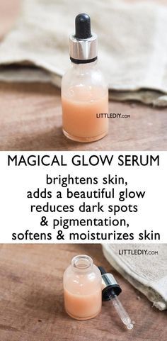 Skin that glows looks the healthiest! Factors like pollution, ageing, lack of moisturization and hyd # Skin Care serum beauty tips MAGICAL GLOW SERUM for healthy glowing skin - LITTLE DIY Diy Skin Care, Skin Care Tips, Skin Tips, Beauty Hacks For Teens, Piel Natural, Beauty Tips For Face, Beauty Tricks, Face Tips, Face Beauty