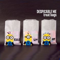 despicable me minion treat bags | Made by L