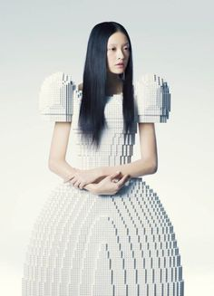 Lego Wedding Dress Created by Rie Hosokai