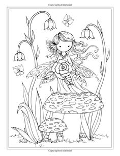 Fairy coloring page Doodle Coloring, Colouring Pics, Coloring Pages For Kids, Coloring Books, Blank Coloring Pages, Fairy Coloring Pages, Colorful Drawings, Colorful Pictures, Digi Stamps