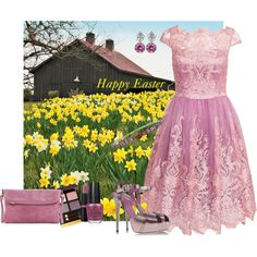 Happy Easter by armband on Polyvore featuring mode, Chi Chi, Le Silla, HOBO, Tom Ford and OPI