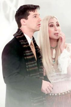 Jack (Sean Hayes) & and his hero, Cher from WILL & GRACE