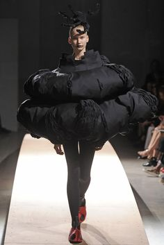 Comme des Garçons RTW Spring 2014 - I can't tell if the collection is totally cray or genius -probably both.  I would love for someone wear something outside the runway