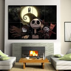 Nightmare Before Christmas Block Giant Wall Art Poster (P-0408)