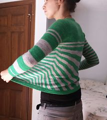 Stripes gone crazy: an adventure from cast-on to bind-off.