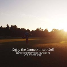 """""""Enjoy golf in the fall, Sunset Golf is the best. Download Golf Short Game Tracker and enjoy your golf. Check it out http://www.golfshortgametracker.com"""""""