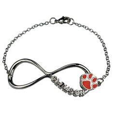 Clemson Tigers Infinity Bracelet