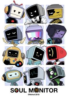 Oc Drawings, Cartoon Drawings, Cartoon Art, Character Concept, Character Art, Drawing Face Expressions, Object Heads, Robots Drawing, Tv Head