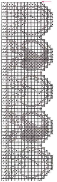 филейное вязание схемы кайма - Поиск в Google