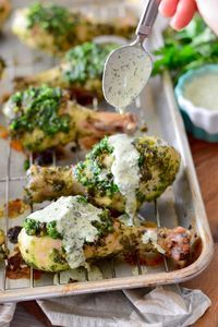 2. Chimichurri Chicken Wings With Ranch Dressing #greatist http://greatist.com/eat/whole-30-recipes-for-every-meal