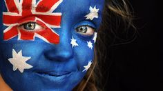 Australia Day Face Painting ... a must for the young and the young at heart