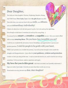 Dear Daughter Letter (Digital Download)